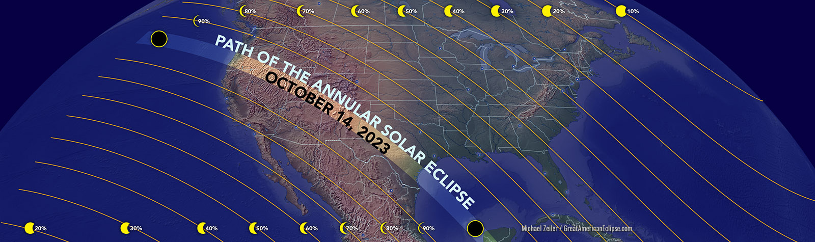 Path of October 2023 Annular Solar Eclipse