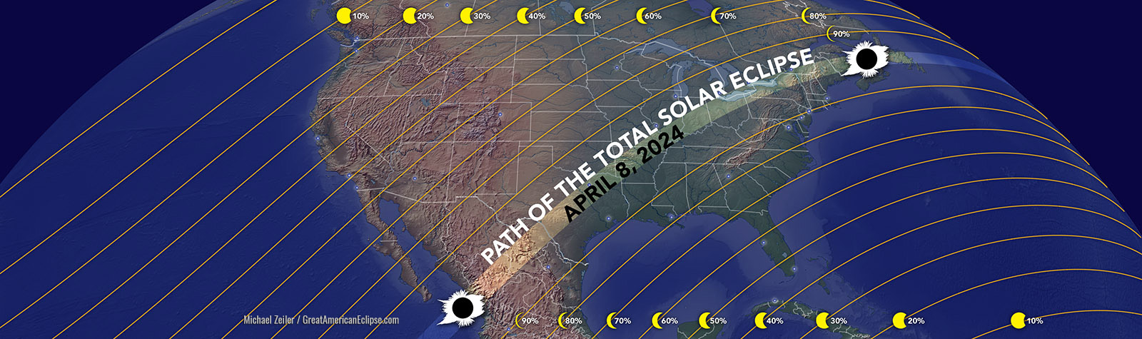Path of April 2024 Total Solar Eclipse
