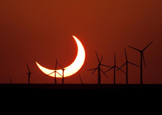 Crescent Sun on the Horizon