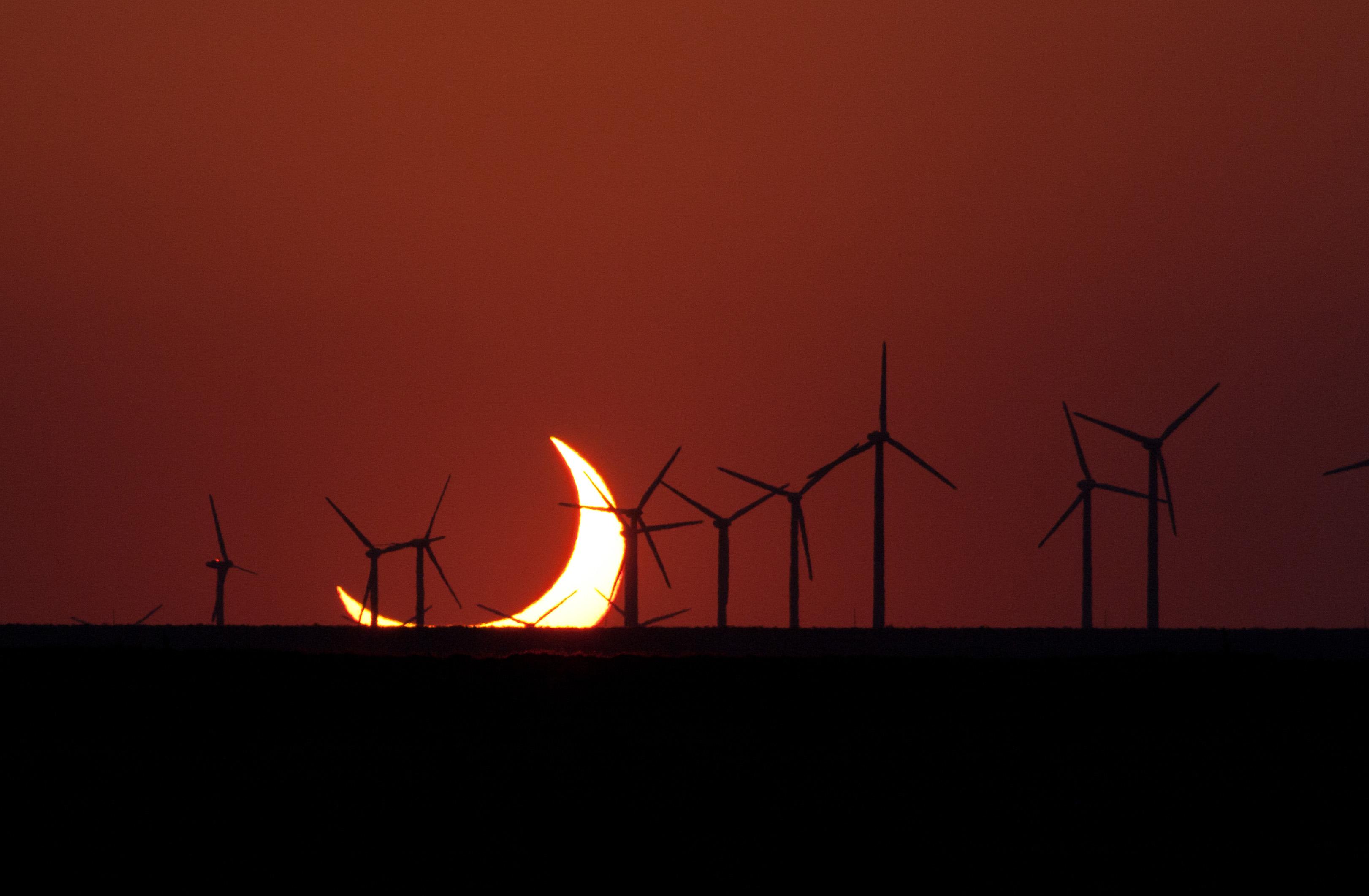 Solar eclipse on the horizon