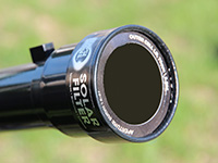 Galileoscope with solar filter