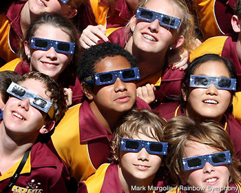 Kids with Solar Eclipse Shades