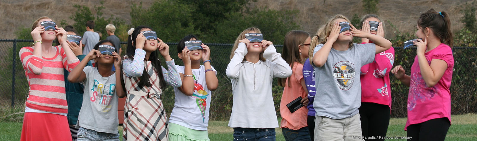 Eclipse Watchers with Safe Solar Filters