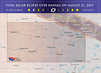 Map of Eclipse in Kansas