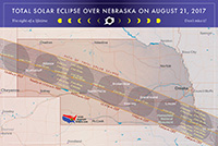Map of Eclipse in Nebraska