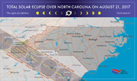 Map of Eclipse in North Carolina