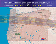 Map of Eclipse in Oregon