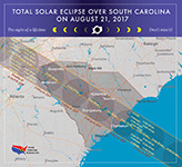Map of Eclipse in South Carolina